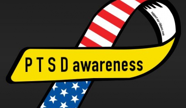 PTSD Awareness ribbon.
