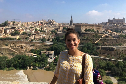 A Cumberlands study abroad student in Spain