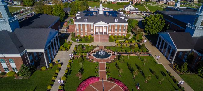 Aerial image of UC campus
